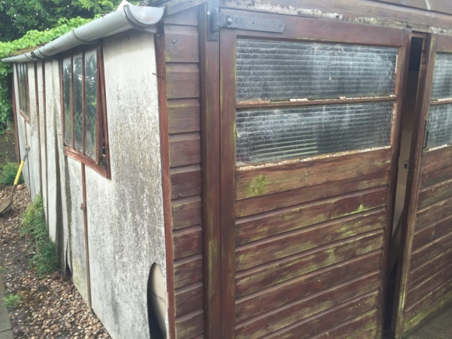 domestic shed space that features asbestos