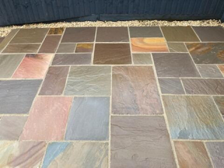 new paving in various colours